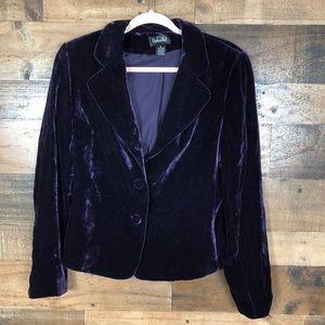 Rafaella purple velvet blazer